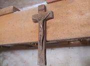 Carved crucifix made of Turkey oak wood