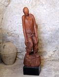 'Persi' (Lost) - Sculpture made of cherry wood