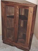 Corner cupboard in walnut