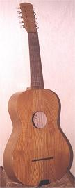 Chitarra battente made of cherry wood