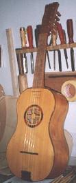 Chitarra battente made of fir wood and maple wood