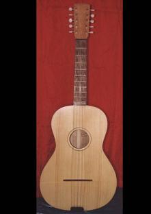 Chitarra battente with flat back plate