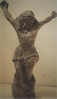 'Cristo senza croce' (Christ without cross) - Sculpture made of walnut