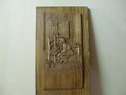 'Ninna nanna contadina' (Peasant lullaby) - Sculpture made of chestnut wood