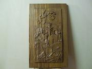 'Cilento senza parole' (Cilento without words) - Bas-relief made of chestnut wood