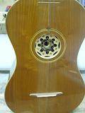 Chitarra battente - sound hole made of wood