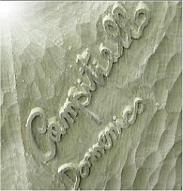 Signature in bas-relief on oak wood