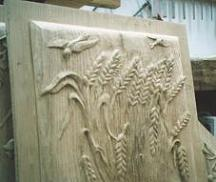 'Estate' (Summer)- Bas-relief on a panel of chestnut wood